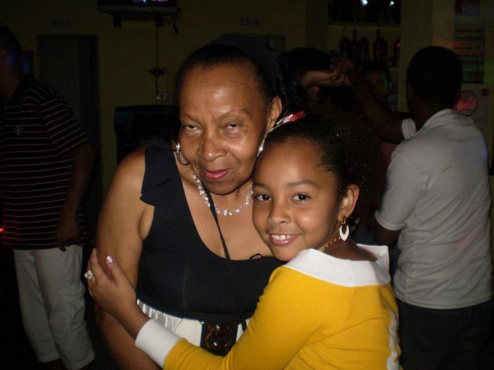 Dona Renata, Nossa Rainha, junto com a nossa daminha